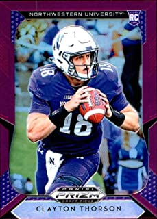 2019 Panini Prizm Draft Picks Prizms Purple #122 Clayton Thorson Northwestern Wildcats RC Rookie NCAA College Football Trading Card