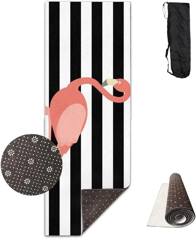 Flamingo Printable Yoga Mat Towel for Bikram Hot Yoga, Yoga and Pilates, Paddle Board Yoga, Sports, Exercise, Fitness Towel