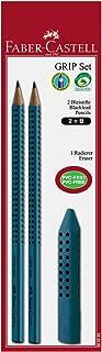 Faber-Castell Grip 2001 580283 - Set de 2 lápices (dureza B, con 1 borrador)
