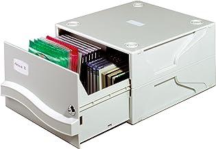 Durable 525710 Multimedia Box Coffret de Rangement Capacité 53 CD/DVD Gris Clair