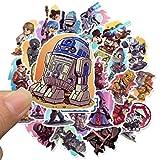 50 PCS Stickers Pack Movies Sticker de Personajes para DIY Skateboard Moto Equipaje Laptop Cartoon Cartoon Sets50 PCS