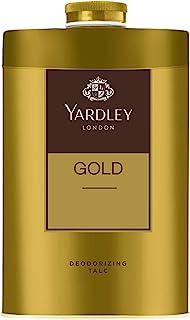 Yardley London Gold Deodorizing Talc for Men, 100g