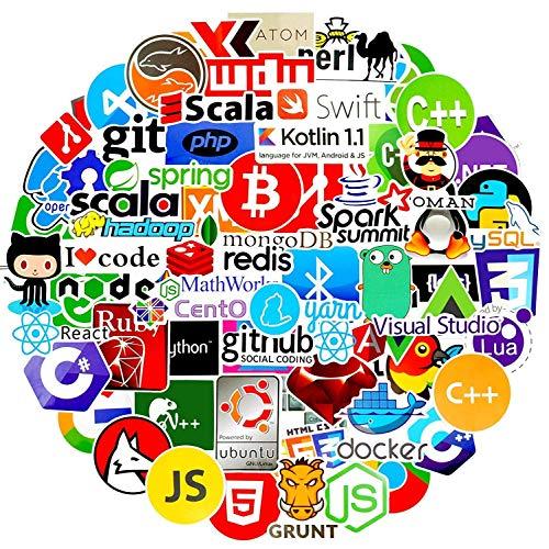 72 Laptop-Aufkleber für Entwickler, Programmiersprache Geeks Ingenieure Hackers UK