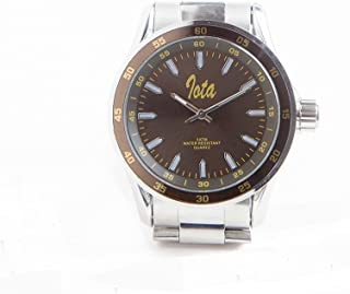 Iota Phi Theta Fraternity Color Face Silver Watch