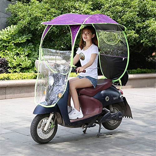 YLKCU Fundas para Motos Parasol eléctrico para Motocicleta, Parasol eléctrico para Bicicleta, Parasol para Lluvia, Paraguas Universal para Scooter de Motor y Coche, Resistente al Sol, C, 1
