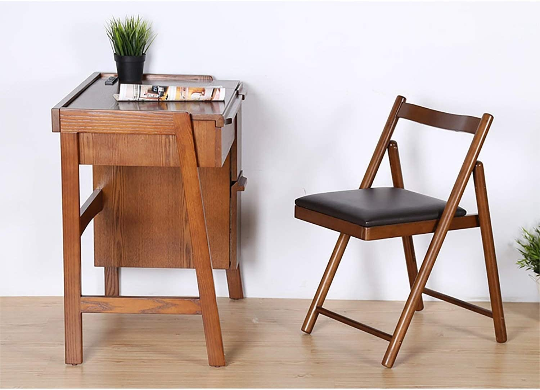 Chaise pliante Dossier Chaise de salle à manger Chaise de réception Ménage Loisirs bureau de la famille restaurant Café en bois massif (Color : A) A