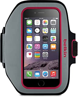 Belkin Sport-Fit Plus Armband for Apple iPhone 6 - Pink/Gray