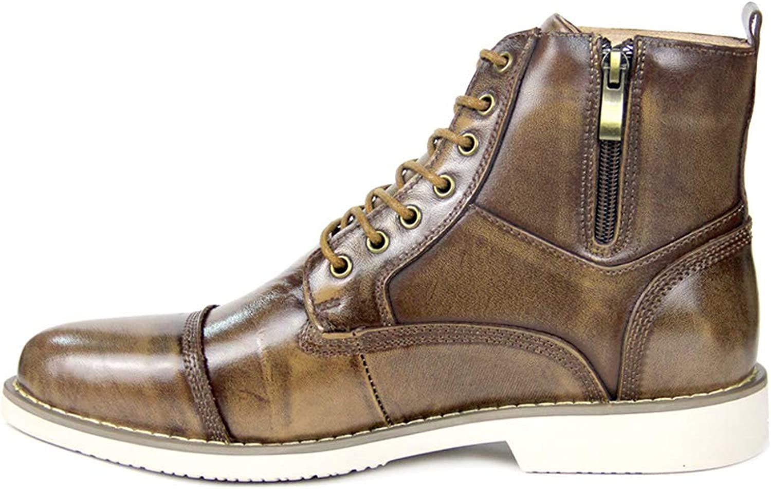 Waterproof high-top Men's shoes, Leather lace-up Boots, Men's Martin Boots, Casual shoes, Men