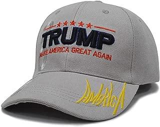 Setkolis Jokkli MAGA Hat Donald Trump 2020 Make America Great Again Hat with USA Flag, 3D Embroidery Signature Adjustable Baseball Cap
