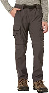 Boy's Youth Convertible Lightweight Comfort Stretch Cargo Pants/Shorts