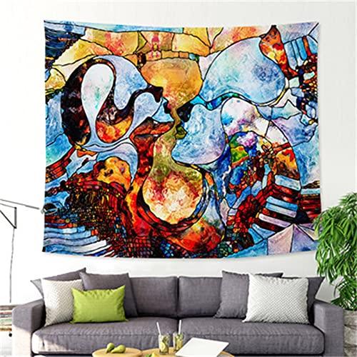 YYRAIN Impresión De Estilo Nórdico Pintura Al Óleo Tapiz De Arte Moderno Decoración del Hogar Colgante De Pared Dormitorio Pintura Multifuncional Toalla De Playa Mantel 79x59 Inch{200x150cm}