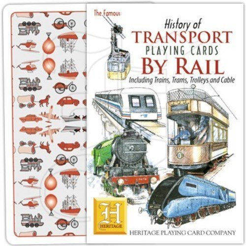 History of Transport - Rail Playing Cards by Heritage Playing Cards