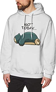 Bakugou Snorlax Pok?mon Not Today Men's Pullover Long Sleeved Sweatshirts Hoodies