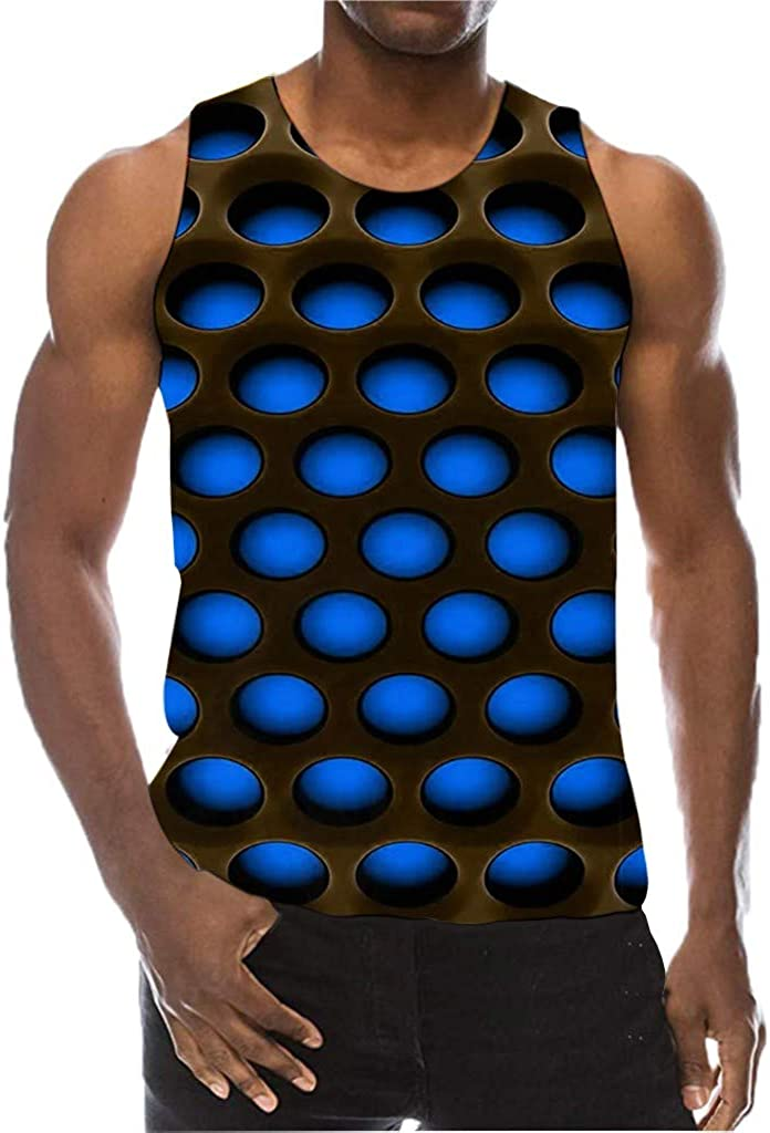 F_Gotal Men's Funny Tank Tops 3D Printed Hip Hop Cool Graphic Sleeveless Gym Workout Training Bodybuilding Fitness Vest