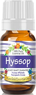Pure Gold Hyssop Essential Oil, 100% Natural & Undiluted, 10ml