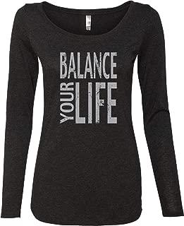 Womens Yoga T-Shirt Balance Your Life Lightweight Long Sleeve