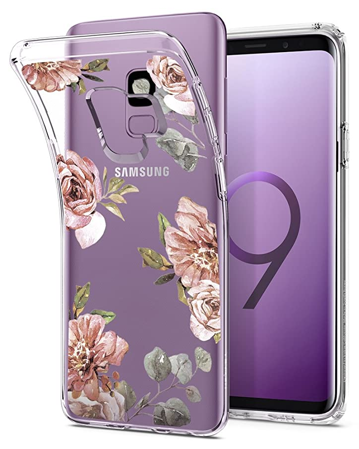 Spigen Liquid Crystal Designed for Samsung Galaxy S9 Case (2018) - Blossom Flower