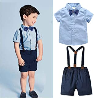 青空販売 子供 男の子 春夏 フォーマル 紳士服 コットン yシャツ ズボン ネクタイ 3点セット 入学式 入園式