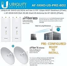 AF-5XHD US PreConfigured (x2) 5GHz 1Gbps Backhaul +AF-5G30-S45 (x2) 30dBi Slant 45 Antenna