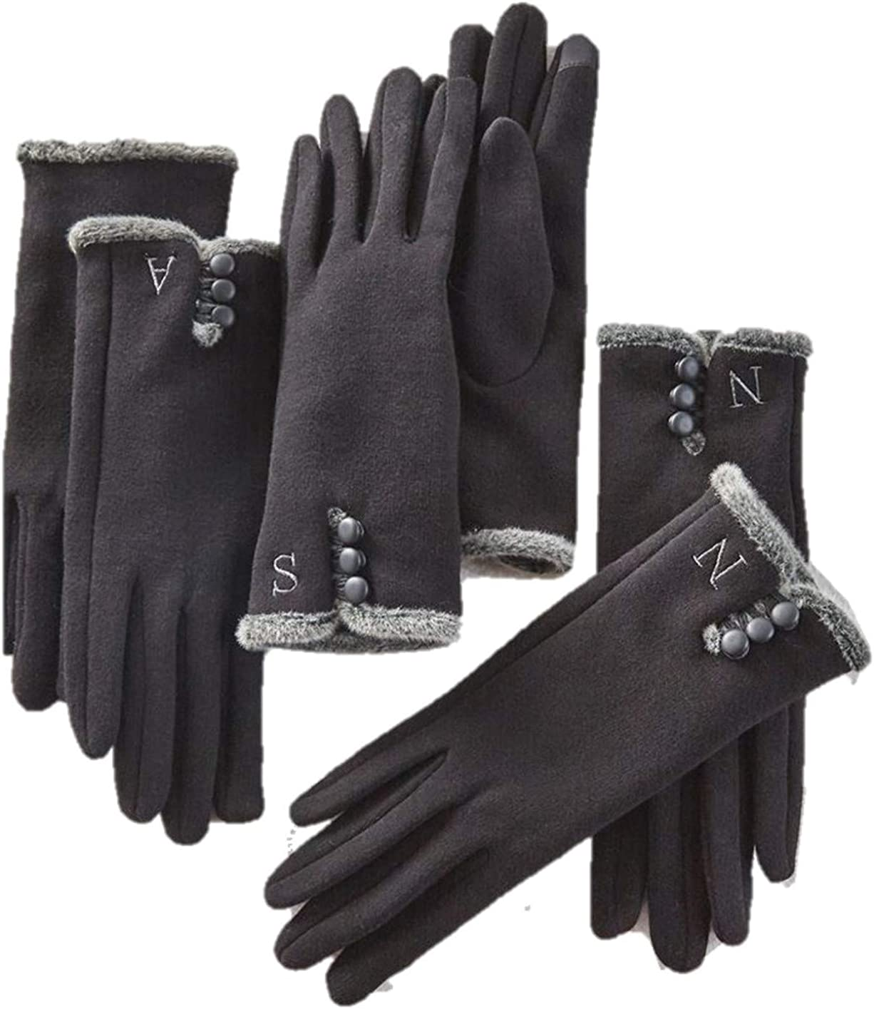 Mud Pie Women's Smart Screen Initial Letter Gloves, Black, One Size