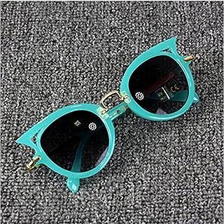 YULE - YULE Gafas de sol para niños con diseño de ojos de gato, gafas de sol vintage para niñas, bonitas gafas de sol de metal con protección Uv400 (color de la lente: 3)