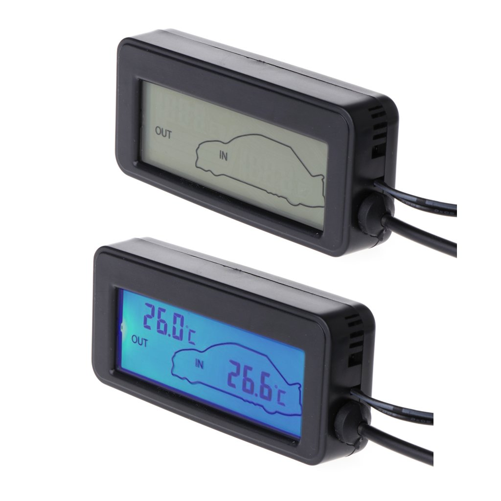 BIlinli Mini Digital Car LCD Display