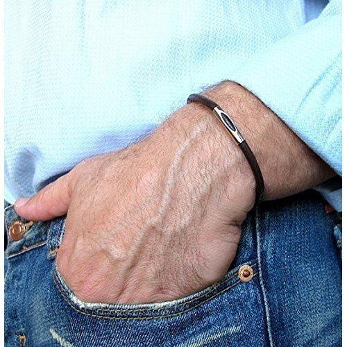 Amazon.com: Leather Bracelet for Men - Men's Classic Bracelet - Gift for Men  - Mens Bracelets - Mens Jewelry - Boyfriend Gifts: Handmade
