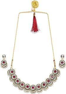 ZAVERI PEARLS Jewellery Set for Women (Golden) (ZPFK9361)
