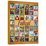 Fallout Poster Wall Art Set -- Mounted Fallout Comics Print (8'x11') (Fallout Room Decor)