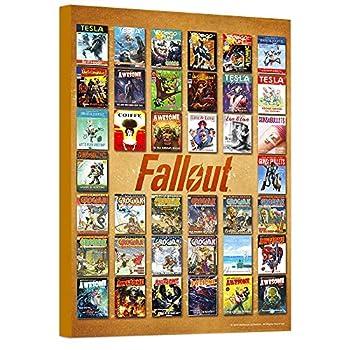 Fallout Poster Wall Art Set -- Mounted Fallout Comics Print  8 x11    Fallout Room Decor