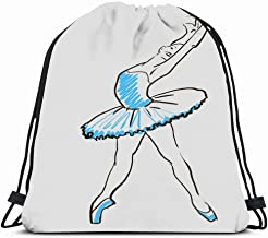 Ahawoso Gym Drawstring Bags Backpack String Bag 14X16 Drawing Foot Sketch Girls Legs Ballerina Standing Pose People Actress Ballet Beautiful Graphic Beauty Sport Sackpack Hiking Yoga Travel Beach