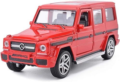 Autos Druckgussmodell, Auto Modellauto 1 32 Legierung Druckguss Auto Spielzeug Ornamente Schmuck Mercedes Modell Simulation Geschenk (Farbe   rot)