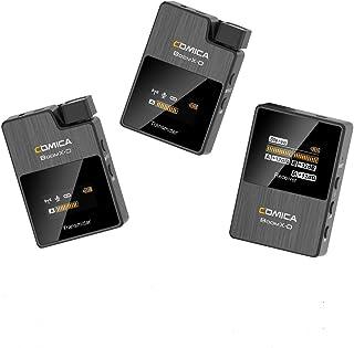 【日本語説明書付き】Comica-BoomX-D D2-2.4Gワイヤレスマイク-外付けマイク-カメラマイク LCDスクリーン付き 2台送信機・1台受信機 モノラル/ステレオ出力サポート リアルタイムでモニタリング 高音質 録音マイク 小型軽量...