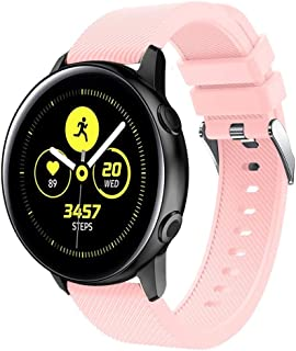 ★Auppova★Compatible Samsung Galaxy Watch Active Bands,Sport Soft Silicone Replacement Wristband for Women Men - [8 Colors Available]- Galaxy Watch Active Accessories
