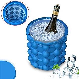 LA GALERIA Espana Cubitera para hielo y Cubo de Hielo Genie XL con tapa, Más nueva y efectiva El diseño Unico de cámara doble tiene capacidad de 2 litros para 120 cubitos de hielo.