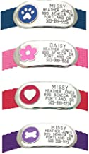 LuckyPet Jewelry Collar Tag for Dogs and Cats, Custom Engraved, Durable, Quiet and Chew Proof, Attaches Flat to Any Collar