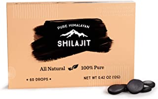 Shilajit Drops from Pure Himalayan Shilajit ® - 60 Counts, 2 Month Supply, Original Siberian Shilajit, 100% Pure Mumio, Trace Minerals & Fulvic Acid