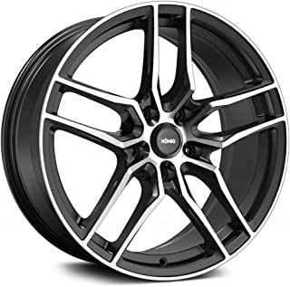 Konig 49MB INTENTION BLACK Wheel with Gloss Machined Face (0 x 8. inches /5 x 120 mm, 45 mm Offset)