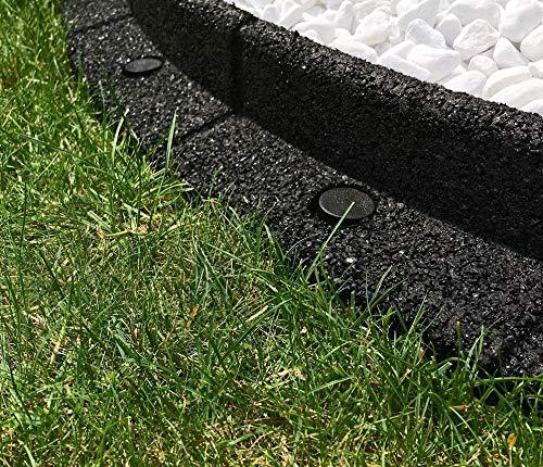 EcoBlok Garten Einfassung Flexible Rasenkante (6 x 1 m, Schwarz)