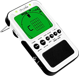 Cherub WMT-940 Recharge Guitar Chord Tool includes 372 fingerings for chords Digital Metronome Tuner