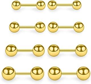4 Pairs 20G Stainless Steel Ball Stud Earrings Set for Men Women Barbell Stud Earrings 3-6mm