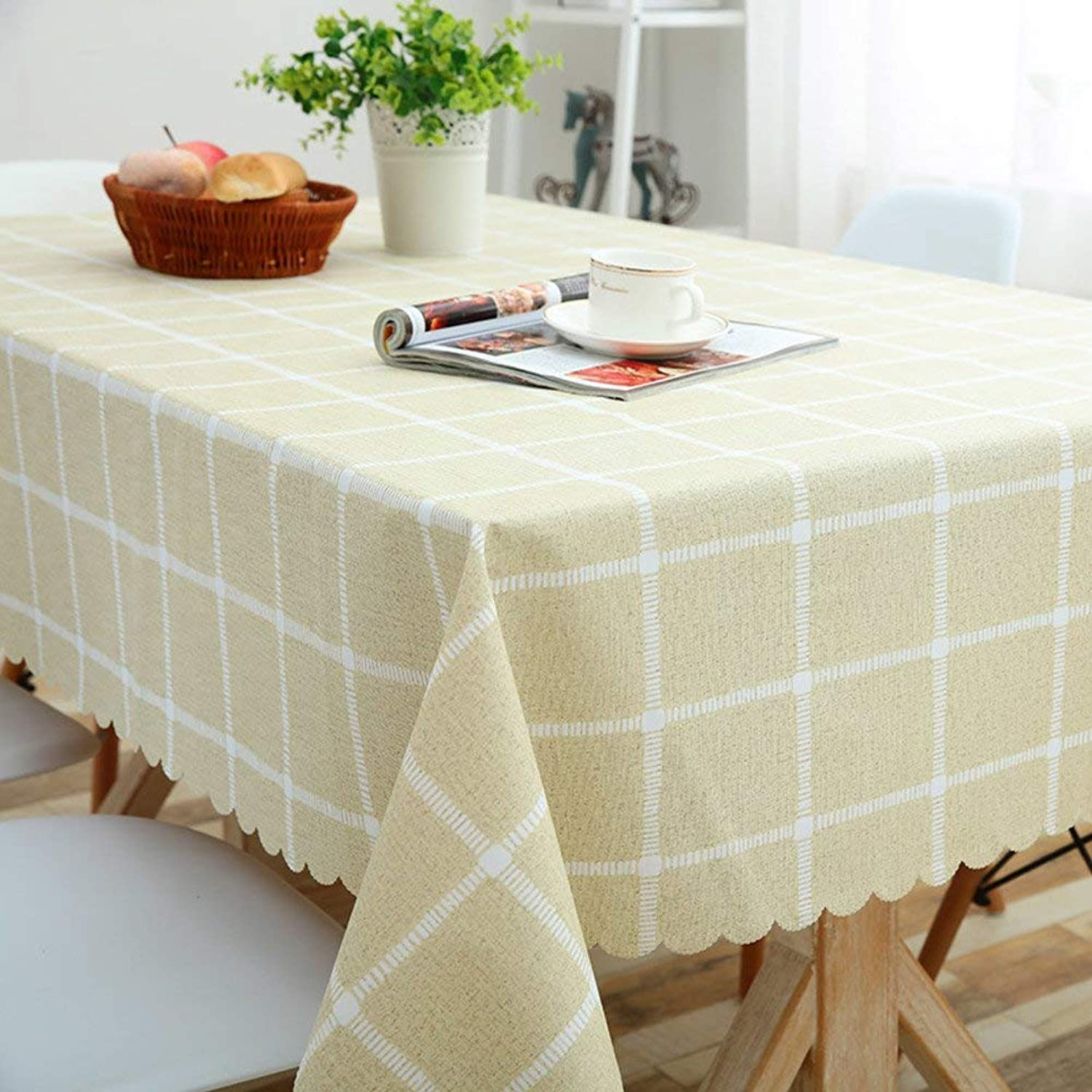 ahorra hasta un 50% WENYAO Home Dining Tablecloth Waterproof Oil-Proof Anti-Hot Anti-Hot Anti-Hot rectangSmall Fresh Coffee tabtablecloth Cloth Art Decorations tabcover Projoector Cloth for Dining Room,Beige_120170cm  caliente