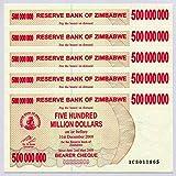 Zimbabwe 2008 P60 Consecutive UNC Currency Bills de 500 millones de dólares x 5 unidades
