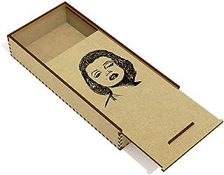 Azeeda 'Marilyn Monroe' Wooden Pencil Case / Slide Top Box (PC00006220)