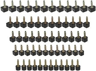 Kbnian 60pcs High Heel Tips Black High Heel Shoe Repair Tips Taps Dowel Lifts Replacement, 5 Different Size