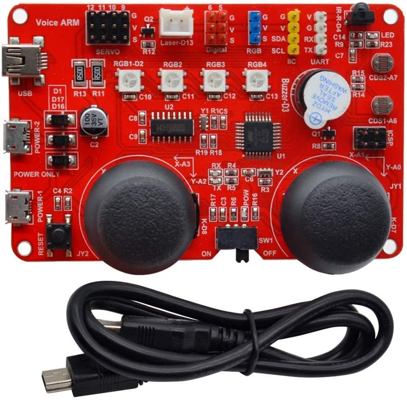ZKS-KS ATMEGA328 CH340G Bombing new work Voice ARM Recommended V1.0 f Board Control Expansion