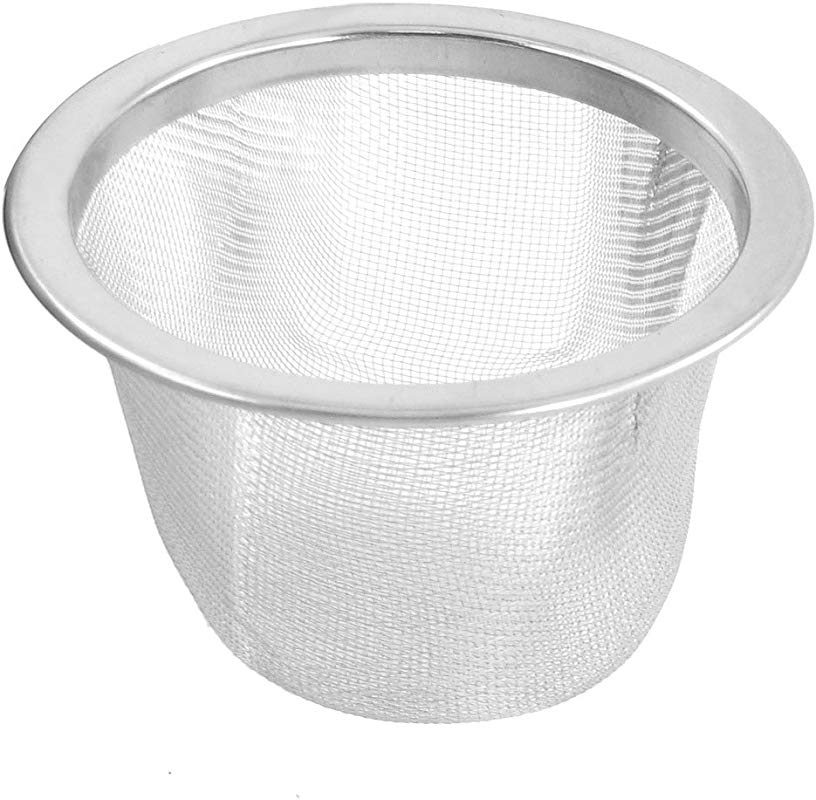 Uxcell Stainless Steel Mesh Tea Leaves Spice Strainer Basket 63mm Outer Dia