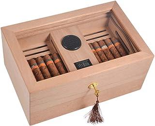 Humidors 100 cigarr kylare cederträ cigarr fuktgivande skåp transparent soltak cigarr låda cigarr förvaringsskåp inbyggd h...