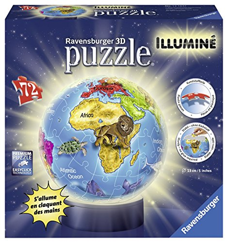 Ravensburger 12184Puzzle 3D–Globe beleuchtet–72teilig