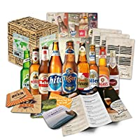 🎉 Contenu: coffret cadeau avec 9 bières du monde entier (les meilleures bières du monde) spécialités de bière du monde ++ brochure d'information de haute qualité sur les bières incluses ++ instructions de dégustation pour la dégustation ++ cadeaux de...